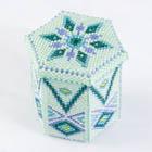 六角形のビーズの箱・ミント:KT339-1BOX