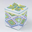 四角形のビーズの箱・ホワイト:KT427-1BOX