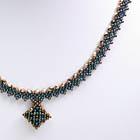 ダイヤモンドチェインネックレス・ブロンズ&ブラック:KT111-1NE