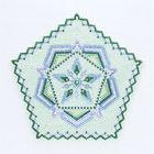 五角形のビーズのドイリー(壁飾り)・グリーン:KT233-1MAT