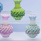 縞模様の飾り瓶のキット・ターコイズ他:KT306-1VASE