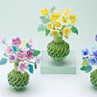 ビーズの小花のアレンジメント・飾り瓶:KT357-1OB